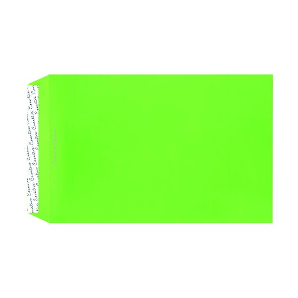 C4 Pocket Envelope Peel and Seal 120gsm Lime Green (250 Pack) 407P