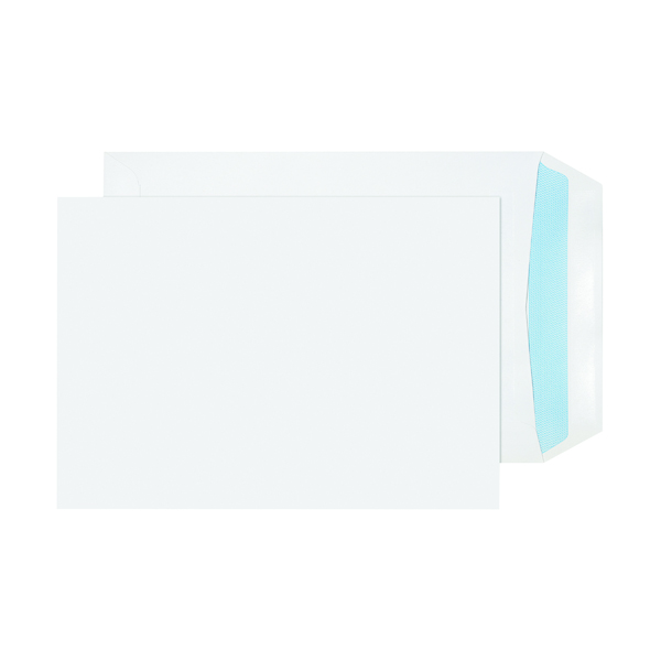 White Plain Evolve Recycled C5 Envelopes Self Seal 100gsm White (500 Pack) RD7893
