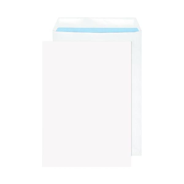 White Plain Evolve C4 Envelopes Recycled Pocket Self Seal 100gsm White (250 Pack) RD7891