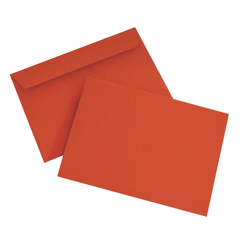 C6 Wallet Envelope Peel and Seal 120gsm Pillar Box Red (250 Pack) BLK93012