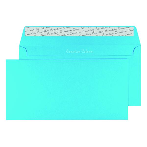 DL Wallet Envelope Peel and Seal 120gsm Cocktail Blue (250 Pack) 209