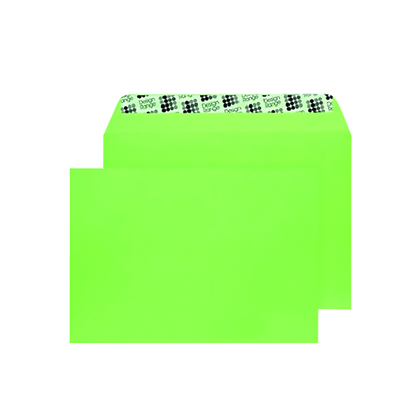 C5 Wallet Envelope Peel and Seal 120gsm Lime Green (250 Pack) BLK93018