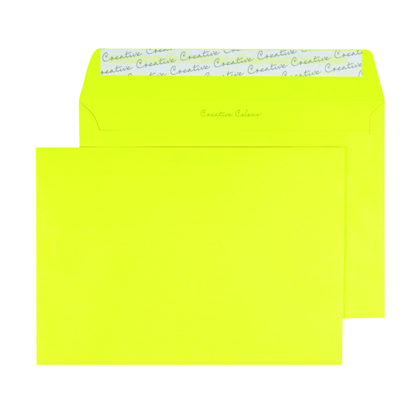 C5 Wallet Envelope Peel and Seal 120gsm Banana Yellow (250 Pack) BLK93019