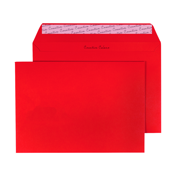 C5 Wallet Envelope Peel and Seal 120gsm Pillar Box Red (250 Pack) BLK93020
