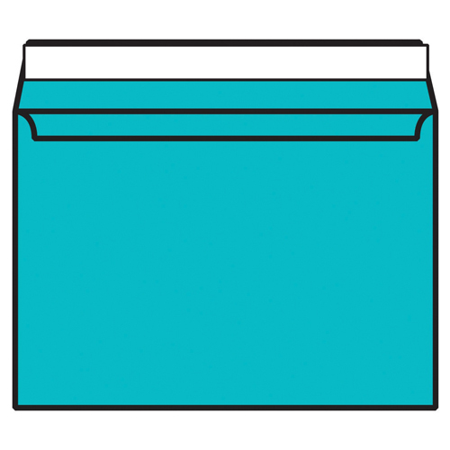 C4 Wallet Envelope Peel and Seal 120gsm Cocktail Blue (250 Pack) BLK93021