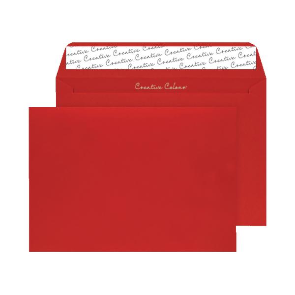 C4 Wallet Envelope Peel and Seal 120gsm Pillar Box Red (250 Pack) BLK93024