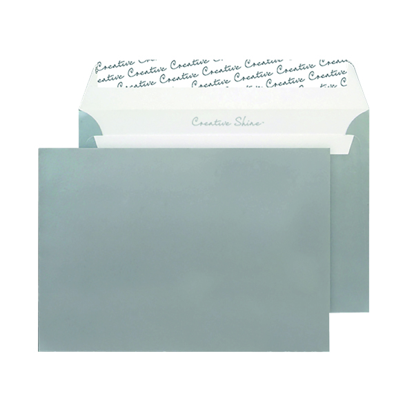 C5 Wallet Envelope Peel and Seal 130gsm Metallic Silver (250 Pack) 312