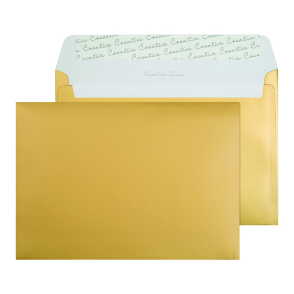 Other C5 Wallet Envelope Peel and Seal 130gsm Metallic Gold (250 Pack) 313