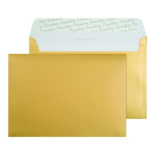 C5 Wallet Envelope Peel and Seal 130gsm Metallic Gold (250 Pack) 313