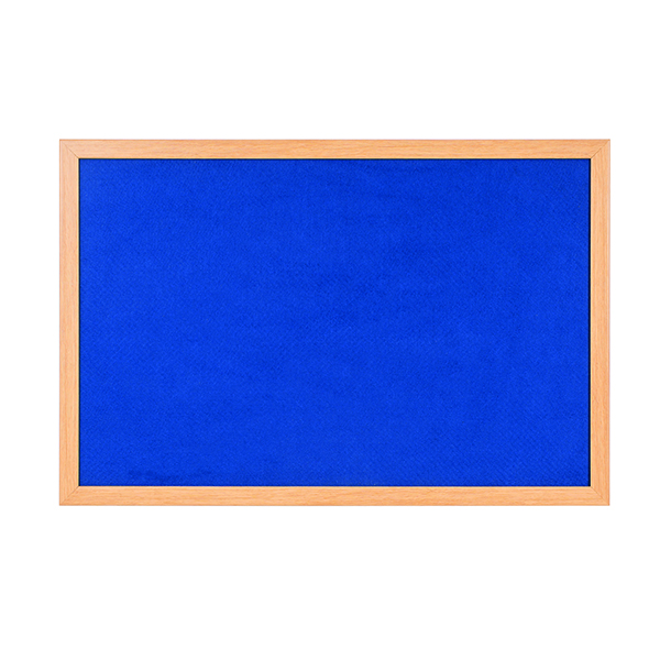 Bi-Office Earth Felt Notice Board 900x600mm Blue RFB0743233