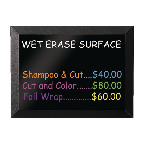 Bi-Office Kamashi 900x600mm Black Wet Erase Board MM07151620
