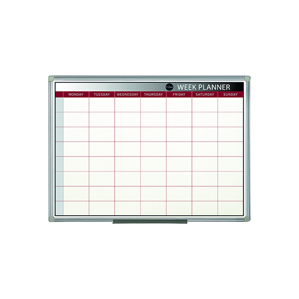Bi-Office Magnetic Week Planner 900 x 600mm GA0333170