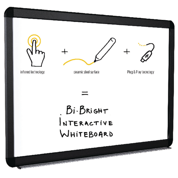 Non-Magnetic Bi-Office Bi-Bright eRED3 Interactive Whiteboard 78in BI1291805B