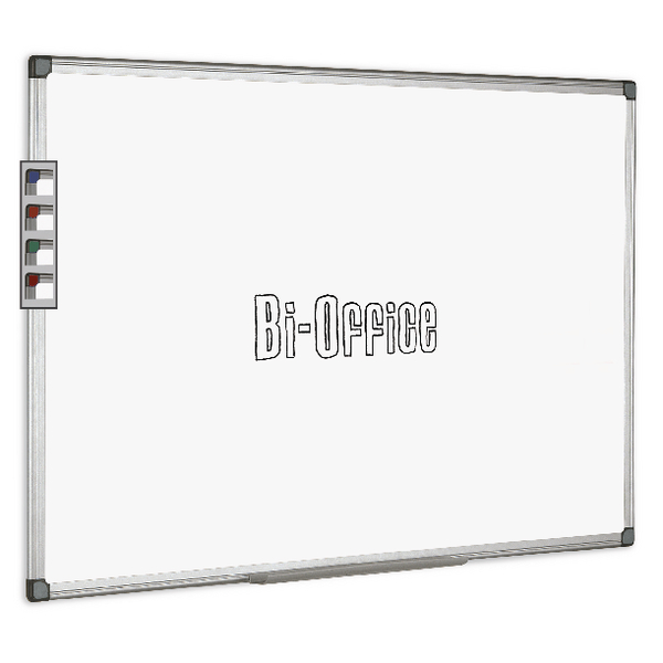 Non-Magnetic Bi-Office Aluminium Trim Drywipe Board 2400x1200mm MB0312170