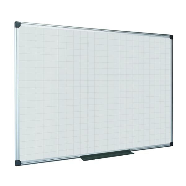 Magnetic Bi-Office Maya Magnetic Whiteboard Gridded 1500x1200mm MA1247170