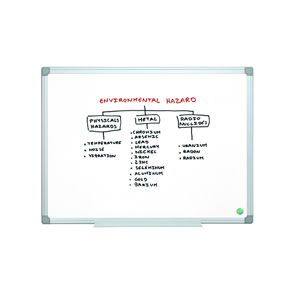 Non-Magnetic Bi-Office Earth Non-Magnetic Melamine Drywipe Board 1200x900mm MA0500790