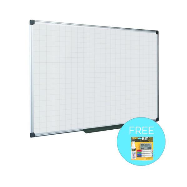 Magnetic Bi-Office Maya Magnetic Whiteboard Gridded 1200x900mm MA0547170