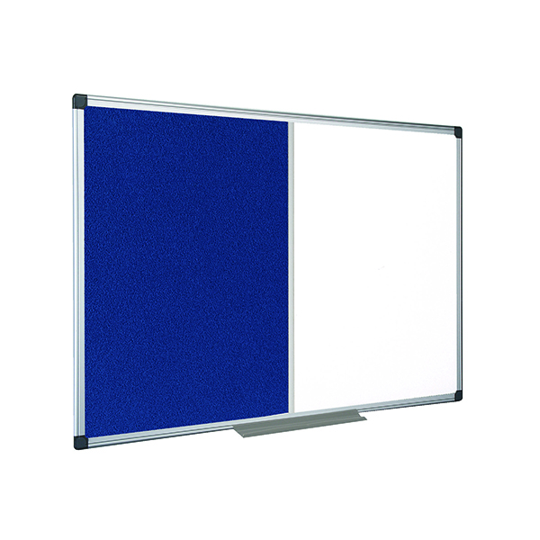 Magnetic  Bi-Office Drywipe and Felt Combination Board 1200x900mm XA0522170