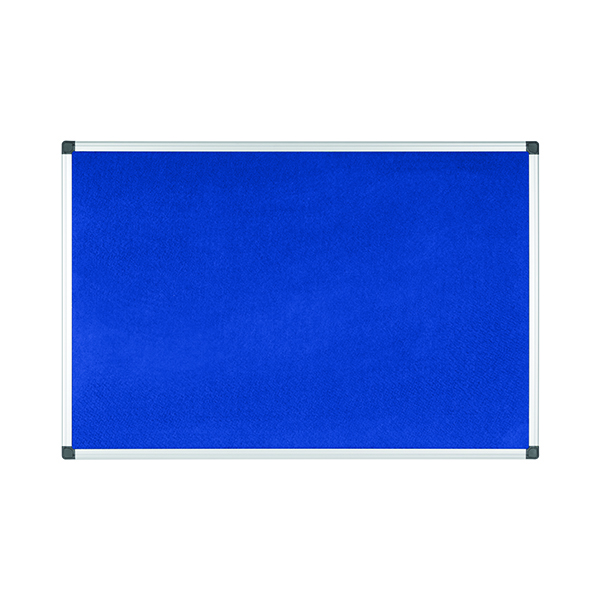 Felt Bi-Office Aluminium Trim Felt Notice Board 900x600mm Blue FA0343170