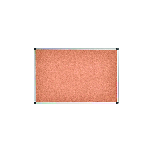 Bi-Office Aluminium Frame Cork Noticeboard 900x600mm CA031170