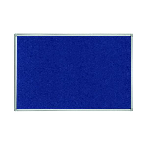 Felt Bi-Office Felt Noticeboard 1200x900mm Blue FB1443186