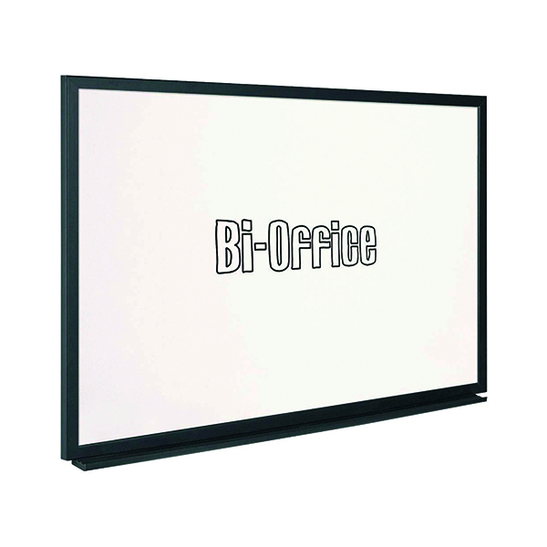 Non-Magnetic Bi-Office Black Frame Whiteboard 900x600mm MB0700169