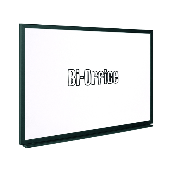 Non-Magnetic Bi-Office Black Frame Drywipe Board 600x450mm MB0400169