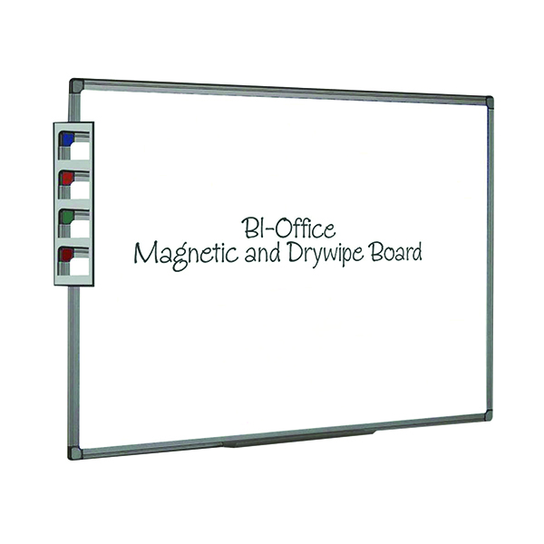 Bi-Office Aluminium Finish Magnetic Whiteboard 600x450mm MB0406186