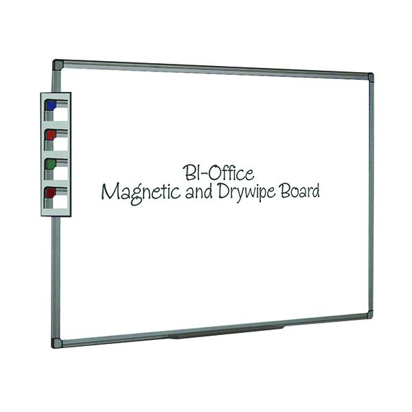 Bi-Office Aluminium Finish Magnetic Whiteboard 600x450mm MB0406186