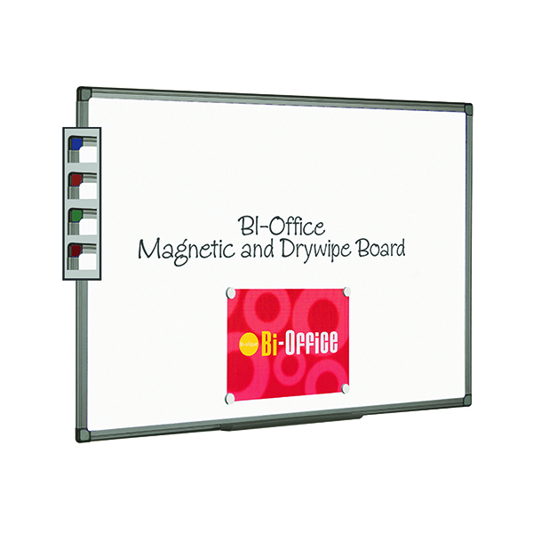 Magnetic Bi-Office Aluminium Finish Magnetic Whiteboard 900x600mm MB0706186