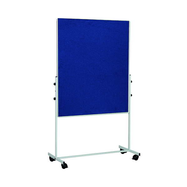 Bi-Office Mobile Felt Board 1500x1200mm Blue EA8327075