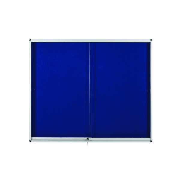 Glazed Bi-Office Lockable 890x625mm Glazed Display Case VT690107160