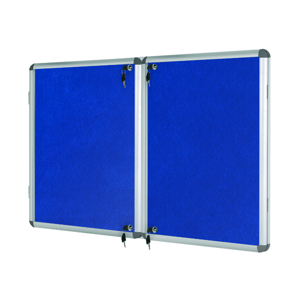 Glazed Bi-Office Lockable 1780x1180mm Internal Display Case VT770107150