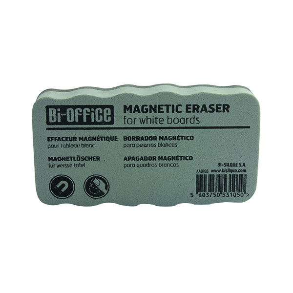 Cleaning/Erasing Bi-Office White Lightweight Magnetic Eraser AA0105 BQ53105