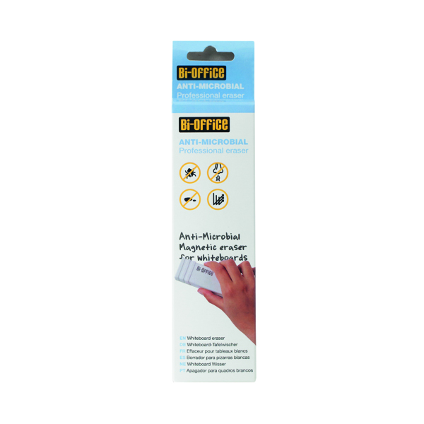 Cleaning/Erasing Bi-Office Antimicrobial Magnetic Board Eraser BAA0111
