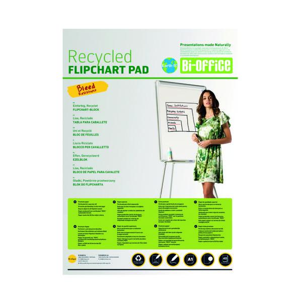 Bi-Office Earth Plain Flipchart Pad A1 40 Sheet (5 Pack) FL0111801