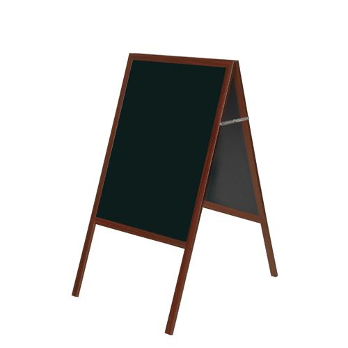 Bi-Office A Frame Chalk Board Cherry Frame 600 x 1200mm DKT30404052