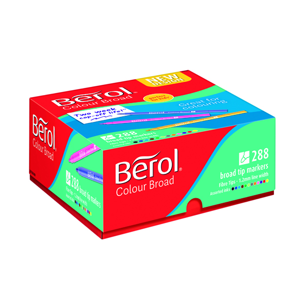 Assorted Berol Colour Broad Class Pack Assorted (288 Pack) 2057598
