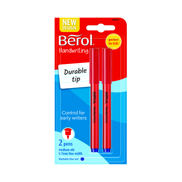 Blue Berol Handwriting Blue Pen Blister Card (24 Pack) S0672920