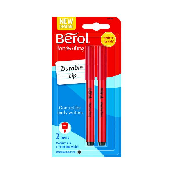 Berol Handwriting Pen Blister Card Black (24 Pack) S0672930