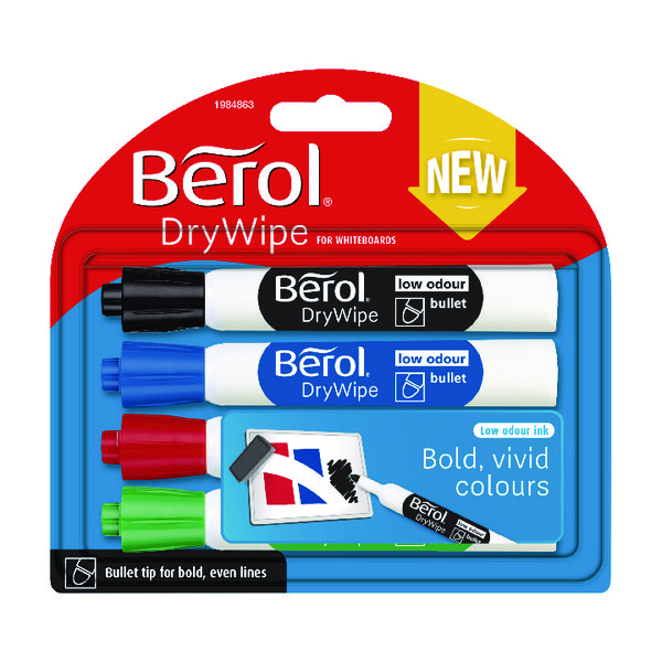 Assorted Berol Drywipe Marker Standard Assorted (48 Pack) 1984864