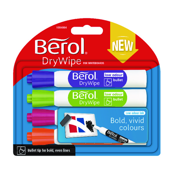 Assorted Berol Drywipe Marker Fun Assorted (48 Pack) 1984864