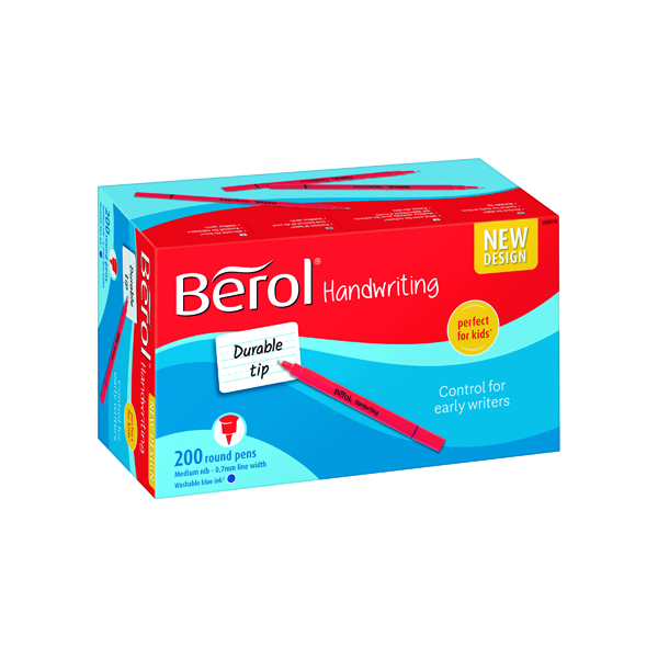 Blue Berol Handwriting Pen Blue 200 Pack 2056779