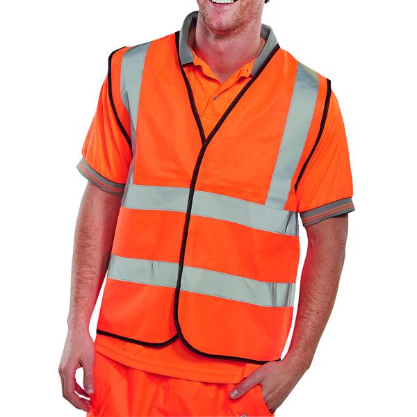 Bodywarmers Hi-Viz Vest Orange EN ISO 20471 Large WCENGORL