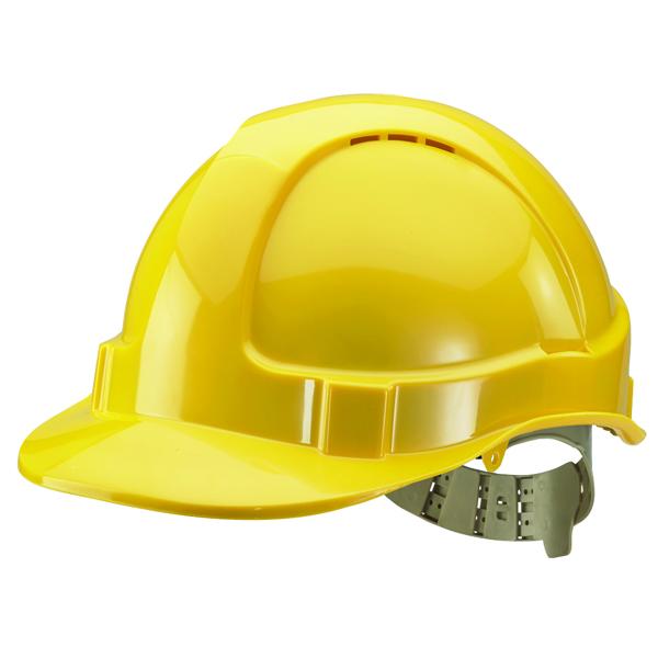 Comfort Vented Safety Helmet Yellow BBVSHY