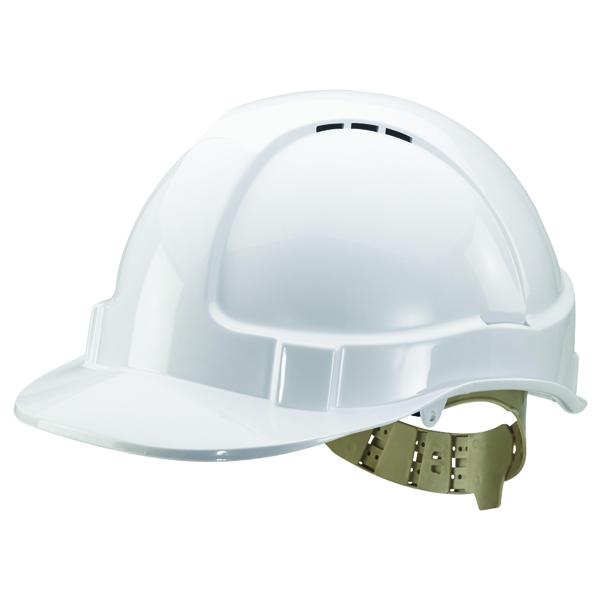 Helmets Comfort Vented Safety Helmet White BBVSHW