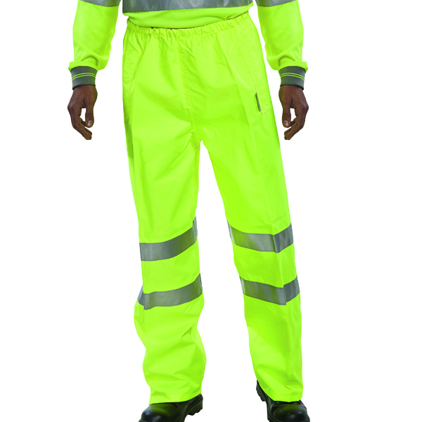 Hi-Viz Trousers EN ISO20471 S/Yellow Large BITSYL