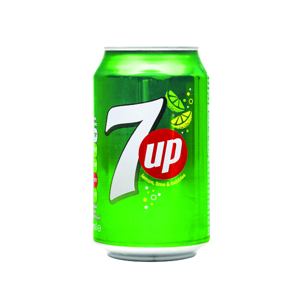 Cold Drinks 7-Up Lemon and Lime Carbonated Drink 330ml Cans (24 Pack) 402010