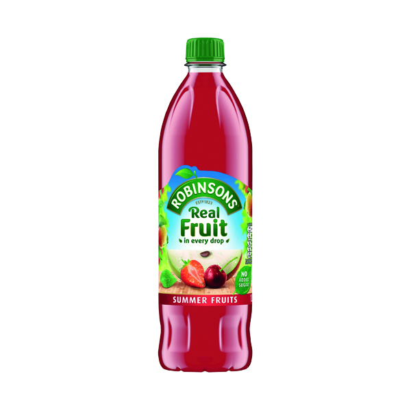 Cold Drinks Robinsons No Added Sugar Summer Fruits Squash 1 Litre 206937