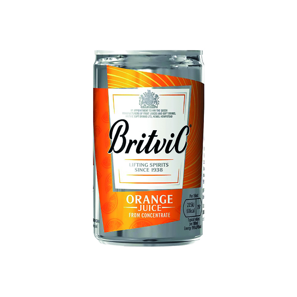 Cold Drinks Britvic Orange Juice 330ml Can (24 Pack) 402045